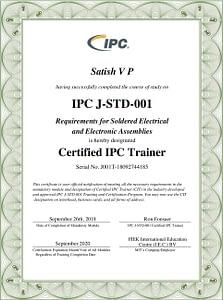 J STD 001 Certificate