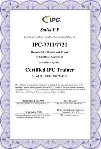IPC 7711 7721 Certificate