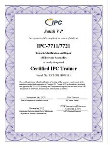 IPC 7711 7721 CIT Certification