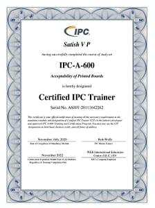 IPC A 600J CIT Certification